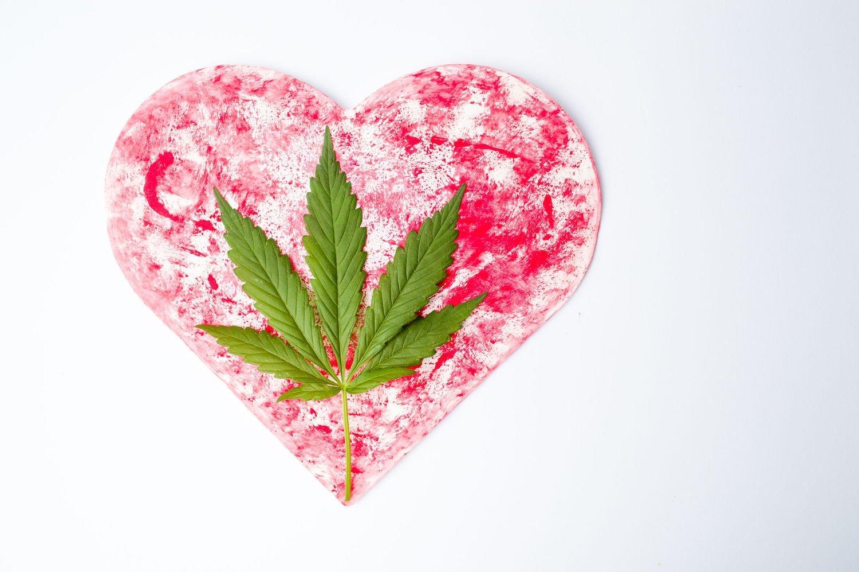 valentine's day cannabis heart