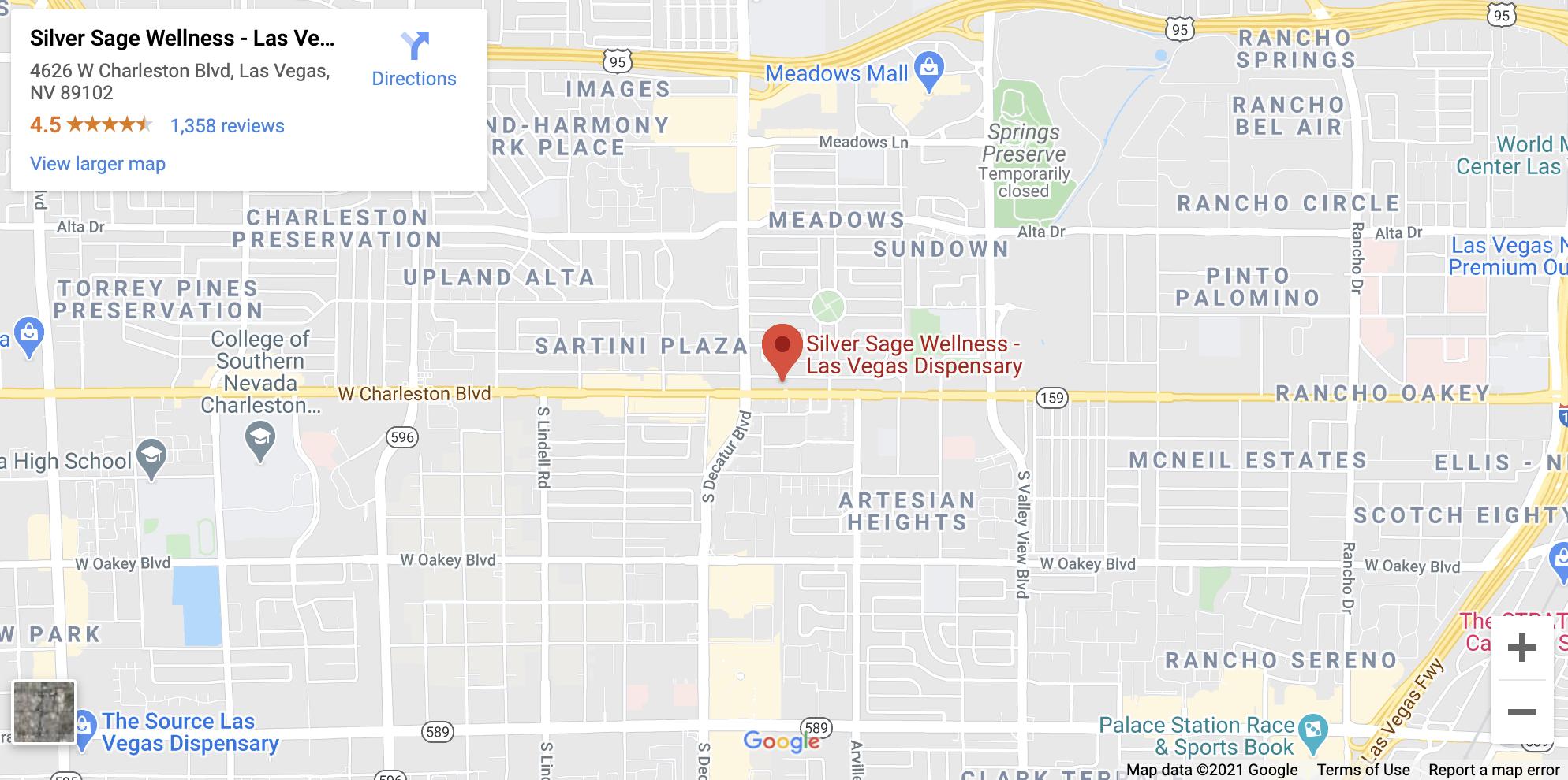 las vegas dispensary on google maps